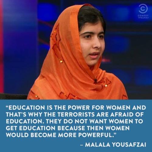 Malala over onderwijs